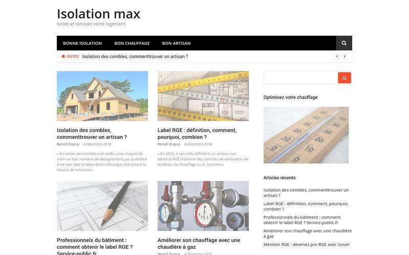 Isolation max - Isolez et rénovez votre logement