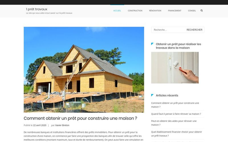 1 prêt travaux - Le site qui vous aide à tout savoir sur le prêt travaux